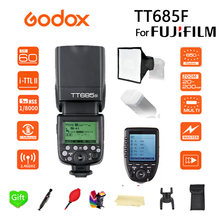Godox TT685F TT685 Flash 2.4G HSS 1/8000 s TTL GN60 Wireless Speedlite +15*17 softbox+XPRO-F Trigger Transmitter for Fujifilm