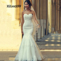 IM207 Sexy Sweetheart Lace Mermaid Wedding Dress 2019 Bridal Gown Prices in Euros Dubai Luxury White Long Bride Gown