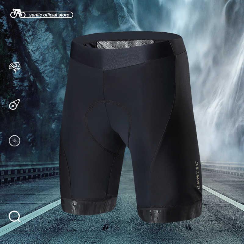 산티아고 남자 사이클링 반바지 블랙 프로 적합 이탈리아어 수입 8 시간 승마 패드 MTB 도로 자전거 짧은 M7C05084