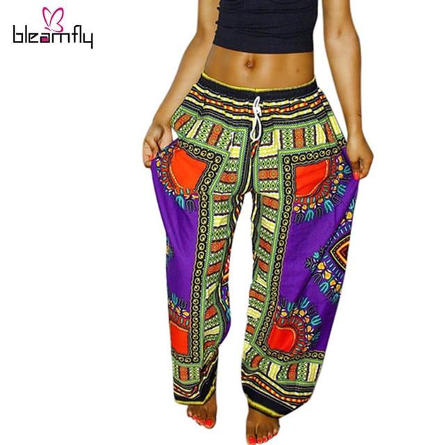 2016 Новый Дизайн Моды женщин Брюки Традиционных Африканских Одежды Печати Dashiki Брюки Для Женщин И Мужчин