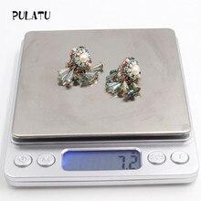 PULATU Hot Sale Pearl CZ diamonds Earrings For Women Tassel Bohemia Style Fashion Earring Bijouterie ED0009