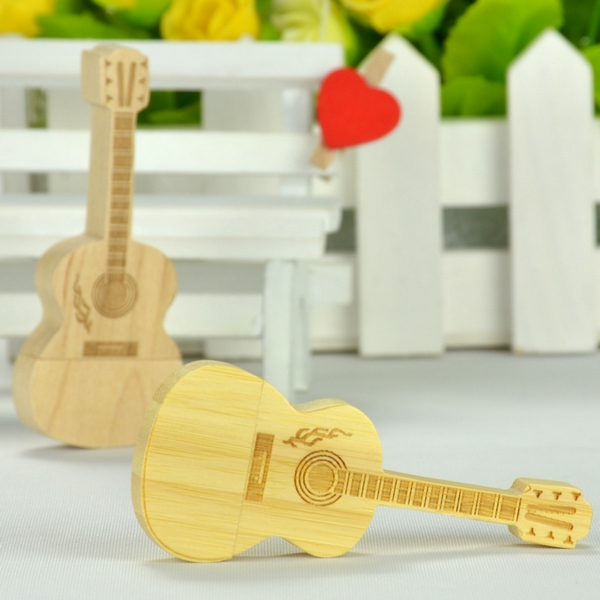 Hot Sale Wooden USB Flash Drive 512GB 1TB Bamboo Guitar Pendrive Maple Wood Pen Drive 32GB 64GB 128GB Memory Stick Gift 2.0 Key