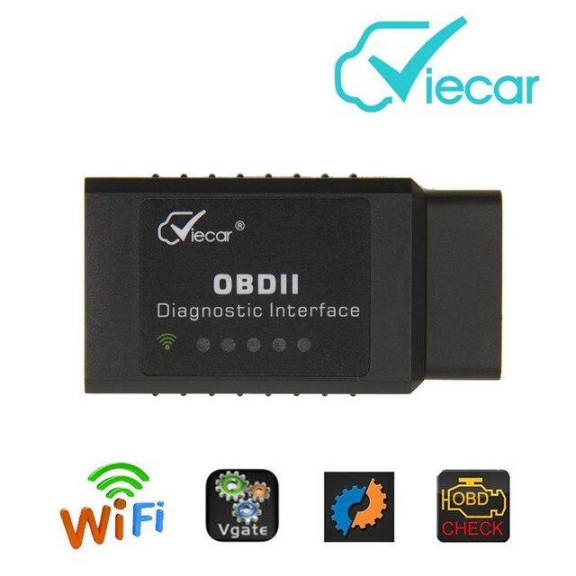 Elm327 Wifi OBD2 Viecar wi-fi для Android/IOS Диагностический Сканер obd2 elm327 V1.5 elm 327 wi-fi Поддержка SAE J1850 сканер Инструмент