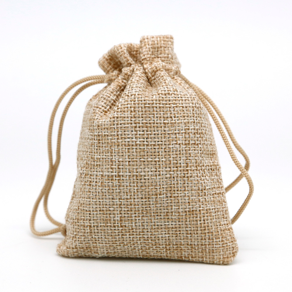 50pcs/Lot 7×9 Linen Bag Drawstring Wedding&Christmas Packaging Pouchs & Gift Bags Small Jewelry Sachet &Mini Jute bags