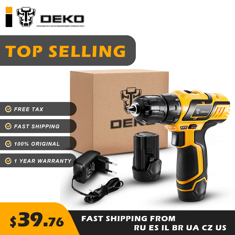 DEKO GCD10 8DU3 10 8V Cordless Drill Electric Screwdriver Mini Drill With Lithium Ion Battery Various