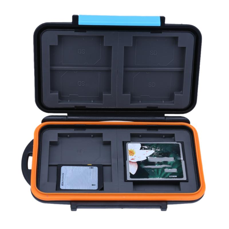 Memory card protcttion case Waterproof Anti-shock Memory Card Storage Holder Box for SD CF TF Card memory sticks memory card case aluminium alloy 8 tf 4 sd memory cards storage box sd card holder