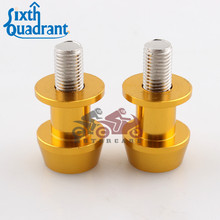 Golden 10mm Motorcycle CNC Rear Stand Swing Arm Spool Sliders Stand Swingarm Bobbins Spools Stands Screws for Motorbike Custom