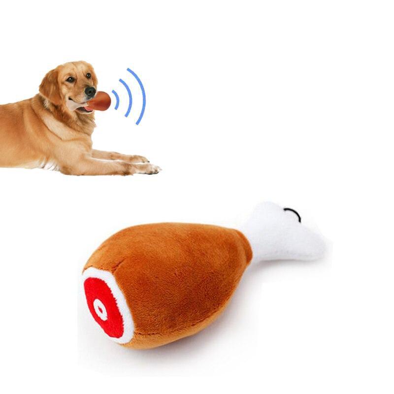 Собака игрушки куриная ножка плюшевые писк учебные материалы для Чихуахуа Йоркширский мини Размеры щенок кошка