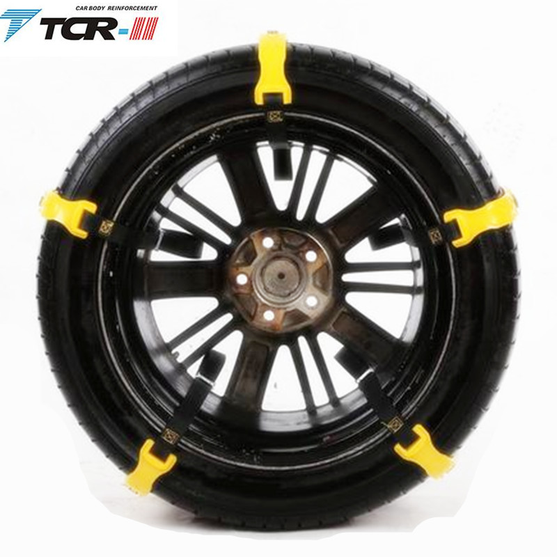Steady Spikes For Tires Plastic Snow Chains 2018 New 6pcs/lot Car Tire Snow Chains Beef Tendon Van Wheel Tyre Anti-skid Tpu Chains Attractive Fashion Travel & Roadway Product