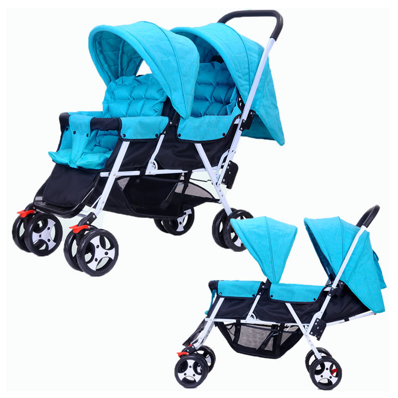 Twins Baby Stroller Foldable Kinderwagen 2 In 1 Double Stroller for Twins Can Sit Flat Lying Umbrella Buggy Baby Pushchair Pram цены онлайн