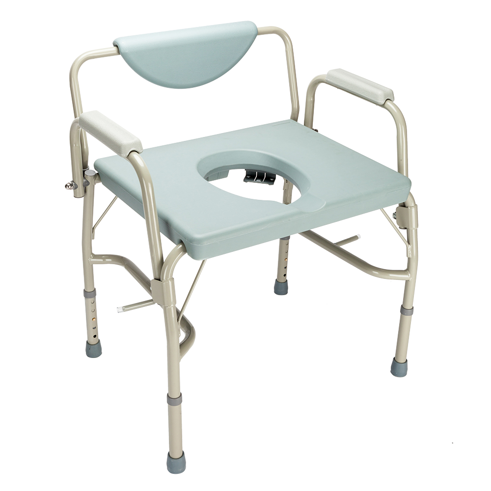 Bedside Commode Chair Us 88 99 Medical Bariatric Drop Arm Commode Adult Potty Chair Toilet Seat Commode Bedside Steel Bariatric Us Shipping In Bathroom Chairs Stools