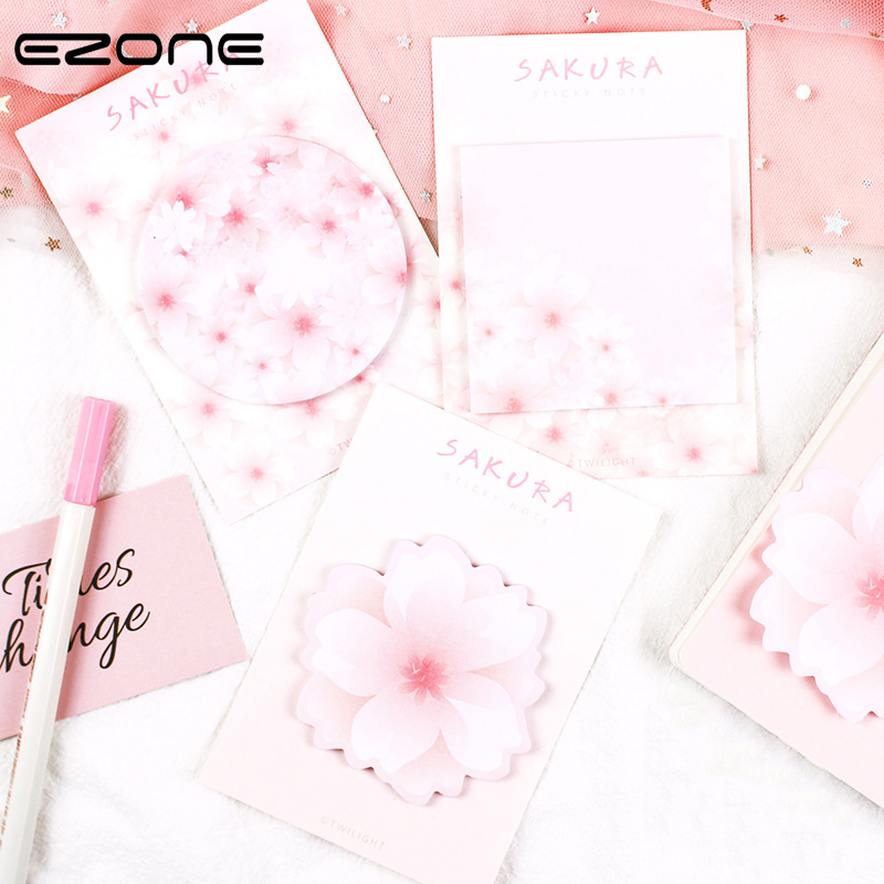 Office & School Supplies Notizblöcke Zielsetzung Ezone Sakura Sticky Note Kawaii Kirschblüten Memo Pad Verschiedene Form Aufkleber Notizblock N Mal Lesezeichen Schule Büro Liefern