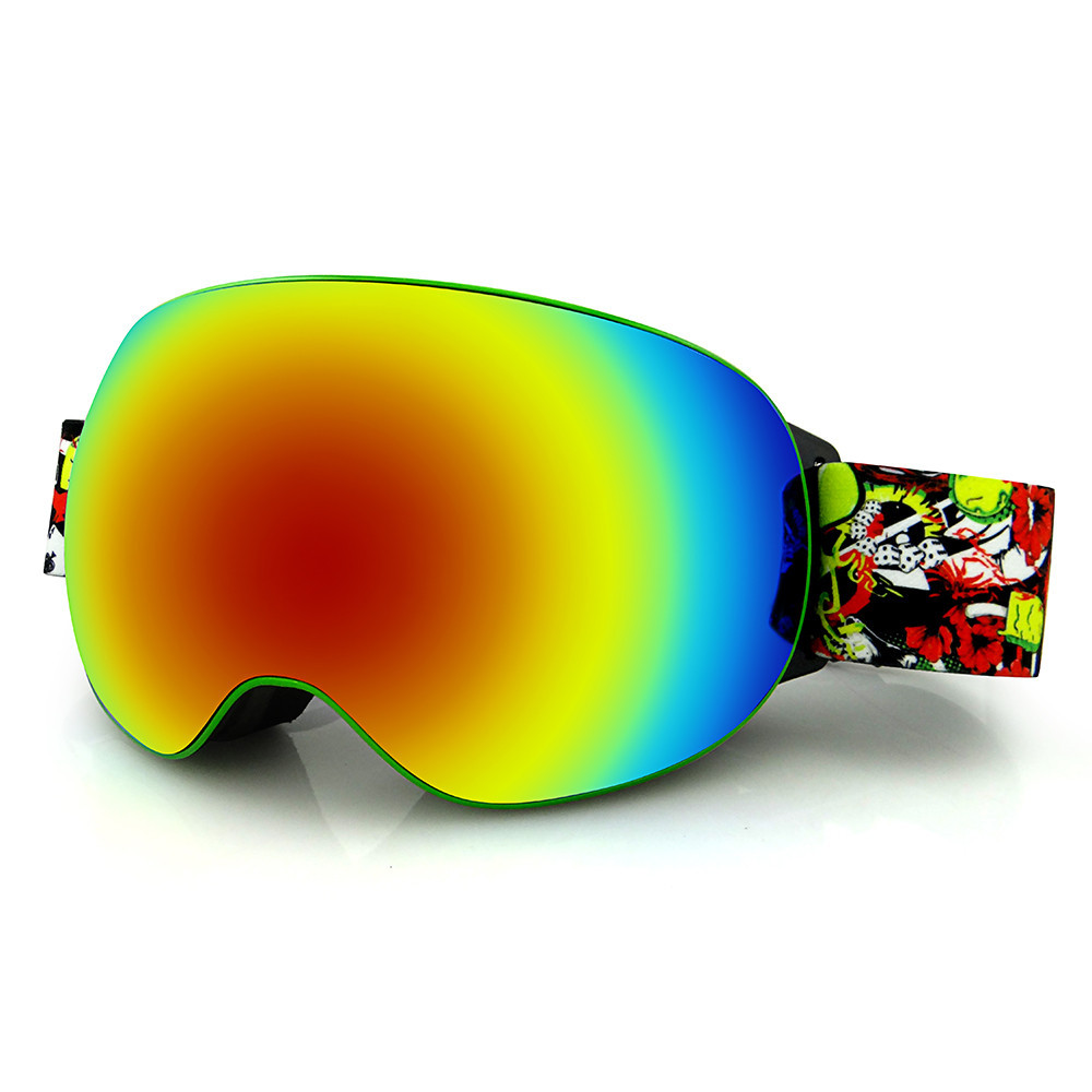 2018 Горячие Сноуборд горнолыжные очки Шестерни Лыжный Спорт для взрослых очки Анти-туман УФ двойной Lensfree доставка #2A23