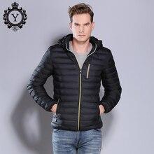 COUTUDI 2017 New Arrival Winter Parka Jacket Mens Casual Solid Black Hooded Jackets Short Cotton Jacket Outwear Parkas Warm Coat