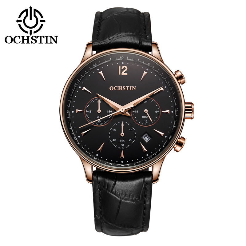 2017 Mens Watches Top Brand Luxury OCHSTIN Men Military Sport Wrist Watch Chronograph Saat Quartz Watch