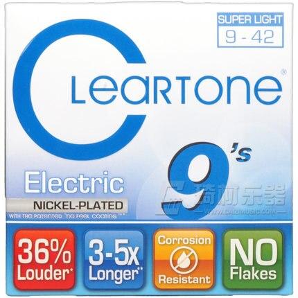 Cleartone 9409 EMP Electric Guitar Strings, Super Light, 009-042 savarez 510 cantiga series alliance cantiga normal high tension classical guitar strings full set 510arj