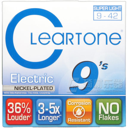 Cleartone 9409 EMP Electric Guitar Strings, Super Light, 009-042
