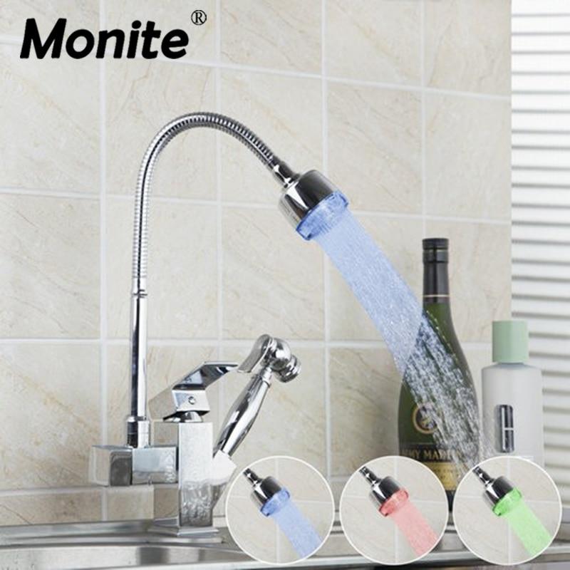 Здесь продается  LED Light Pull Out Chrome Swivel 360 Single Handle Kitchen Faucet  Deck Mount  Sink Vessel Torneira Tap Mixer Faucets  Строительство и Недвижимость