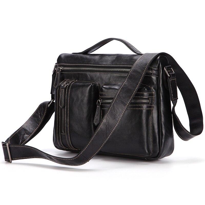 FSINNLV New Genuine Leather Vintage Shoulder Bags for Men Messenger Bag Male Tote Casual Business Crossbody Bags Handbags HB183 цена
