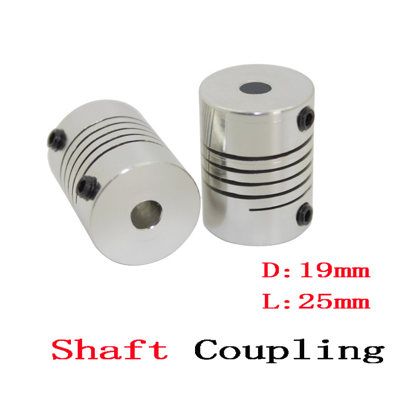 6 to 7mm Bore 26mm OAL Aluminum Alloy Servo Motor Flexible Coupling 19mm OD Clamp Style