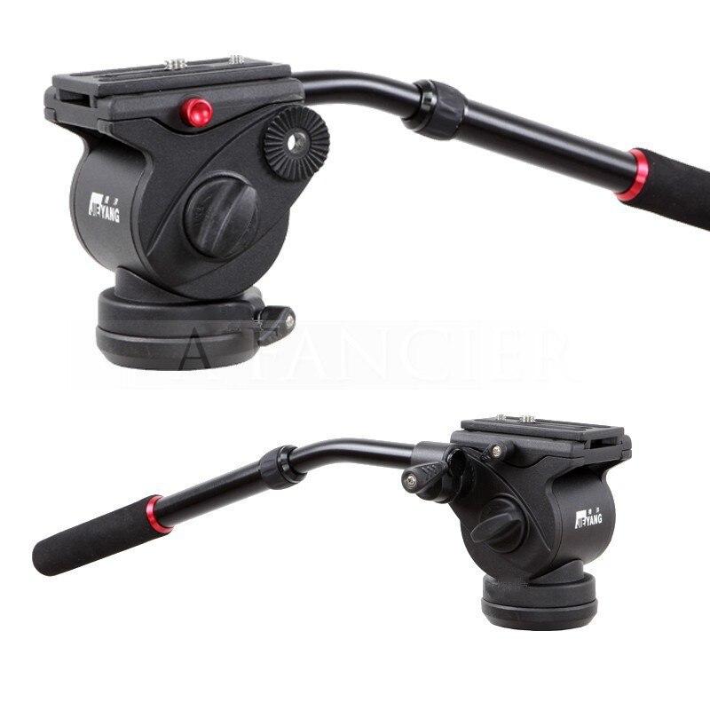 ФОТО Jieyang New Professional JY0506 JY-0506 video DSLR Camcorder Fluid Tripod Head Drag slider rail  Handle Head free shipping