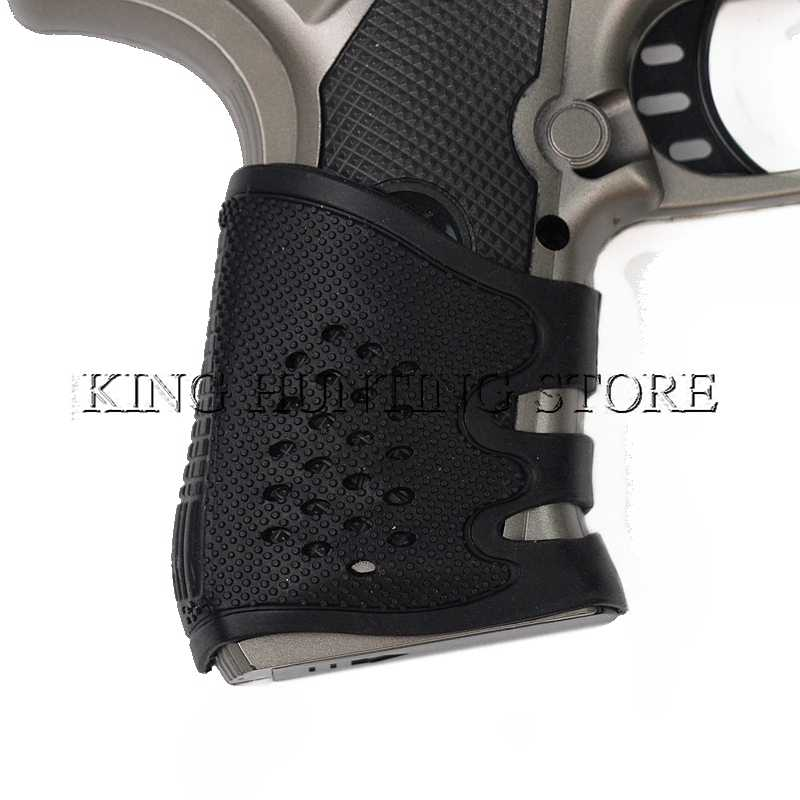 Hot Sale Tactical Pistol Rubber Grip Glove Cover Sleeve Anti Slip for Most  of Gl17 AR15 M4 AK-47 SIG Sauer P09 Airsoft Hunting