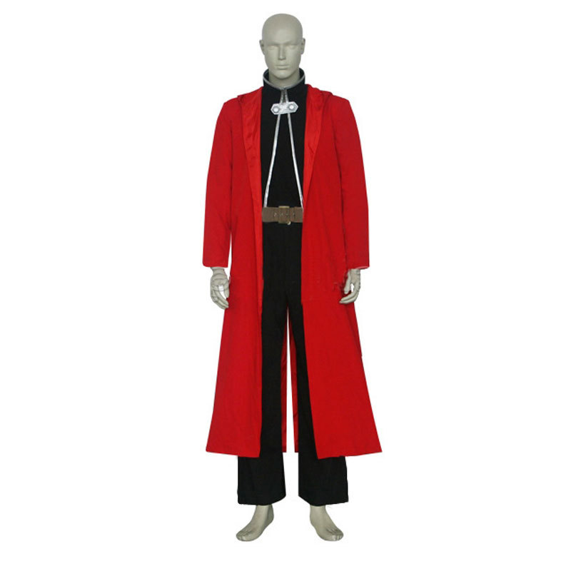 Best Quality Anime costumes FullMetal Alchemist Edward Elric Cosplay Costumes halloween costumes