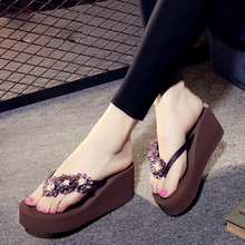 купить Woman flip flops Lady Casual Beach Slipper Flip-flops Sandals Home Slippers Women 2019 Summer Fashion Sexy High Heel shoe по цене 685.04 рублей