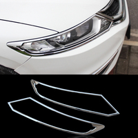 For Honda Jade 2013 2014 2015 2015 2016 ABS Chrome Front Headlight Cover Trim Head Lamp Decoration Hood Strip Car Accessories