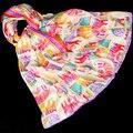 100% Bufanda de Seda Bufanda de Las Mujeres Del Gato Grande Chal De Seda 2017 de Seda Superior Animal Print de Seda Del Abrigo Del Pashmina Largo Grande Caliente de Regalo de Lujo para Dama