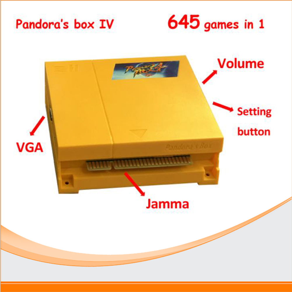 Jamma Board Pandora Box 4 HD VGA&CGA Output 645 in 1 Jamma Multi Game Board Original Pandora's Box 4 Mutli Game Cart new arrival free shipping game elf 750 in 1 jamma multi game pcb can deal with cga