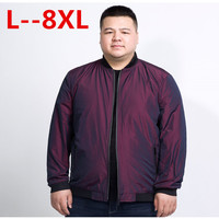 plus size 10XL 8XL 6XL 5XL 4XL New Spring jacket coat men brand clothing fashion male bomber jacket top quality outwear red blue