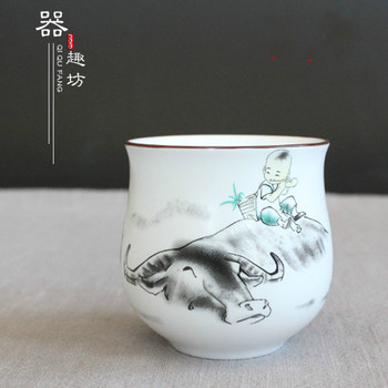 Jingdezhen Classical Style Hand-Painted Kung Fu Tea Cup Set Travel Chinese Porcelain Coffee cup Sets Ceramic Clay Tea Service serveware