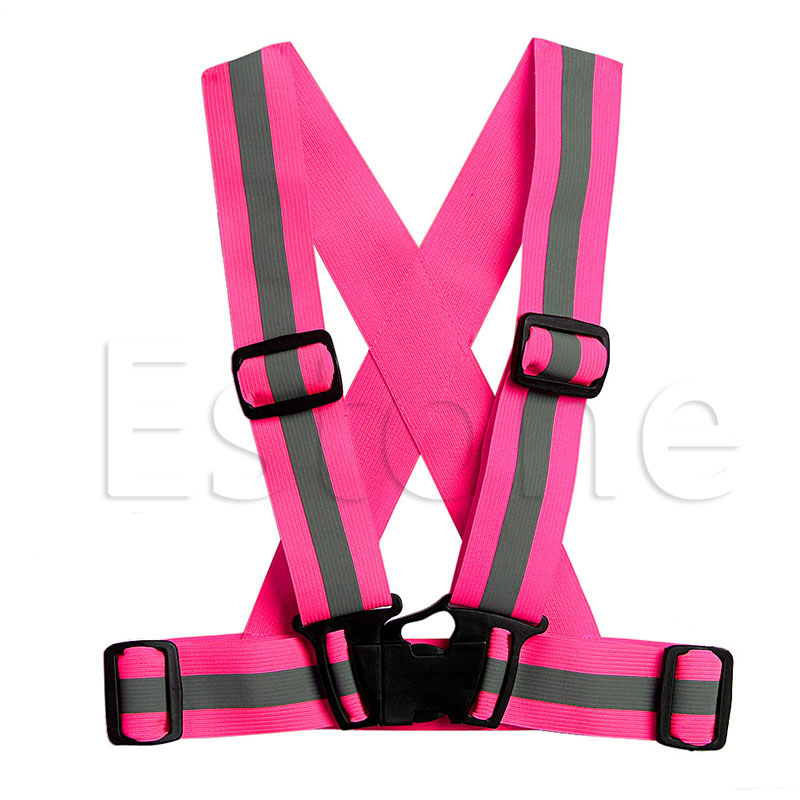 Children Kids Safety Adjustable Safety Reflective Visibility Striped Vest Jacket Highlight For Night Riding Cycling Sports 4