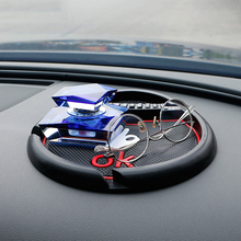 Car Non-slip Mat Decoration Grid Double Card Anti-Slip Pad Ornament Auto Holder Dashboard For GPS Parking Phone Number 22.5x21CM