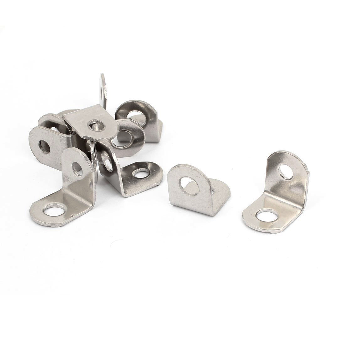 10 Pcs Stainless Steel Corner Brace Joint Right Angle Bracket 17x17mm Silver 10 pcs lot silver color metal corner brace right angle l shape bracket 20mm x 20mm home office furniture decoration accessories