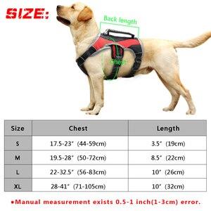 Image 5 - Harnais réfléchissant pour chiens pour grands chiens, licou K9, gilet en maille, avec poignée à levage rapide, pour marche Labrador Husky