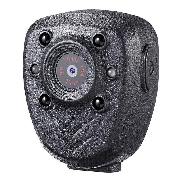 Câmera de vídeo da lapela do corpo da polícia hd 1080p, dvr, ir noite, visível, led, gravação de 4 horas mini gravador digital com voz 1, dv