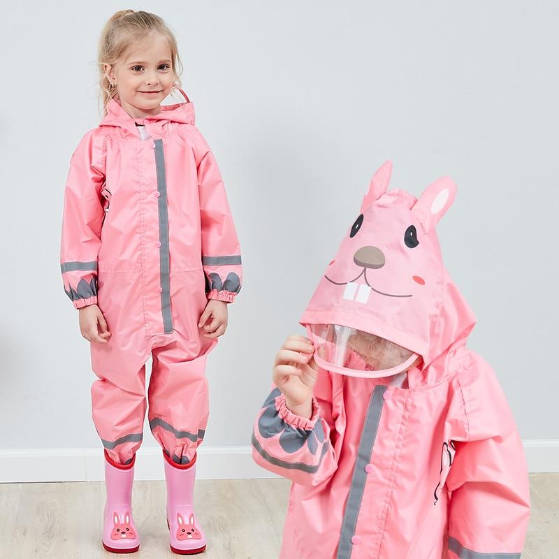 Kids Waterproof Rain Pants New 2020 Waterproof Overalls 3-8Yrs Baby Boys Girls Jumpsuit Fashion Children Raincoat Clj016 3