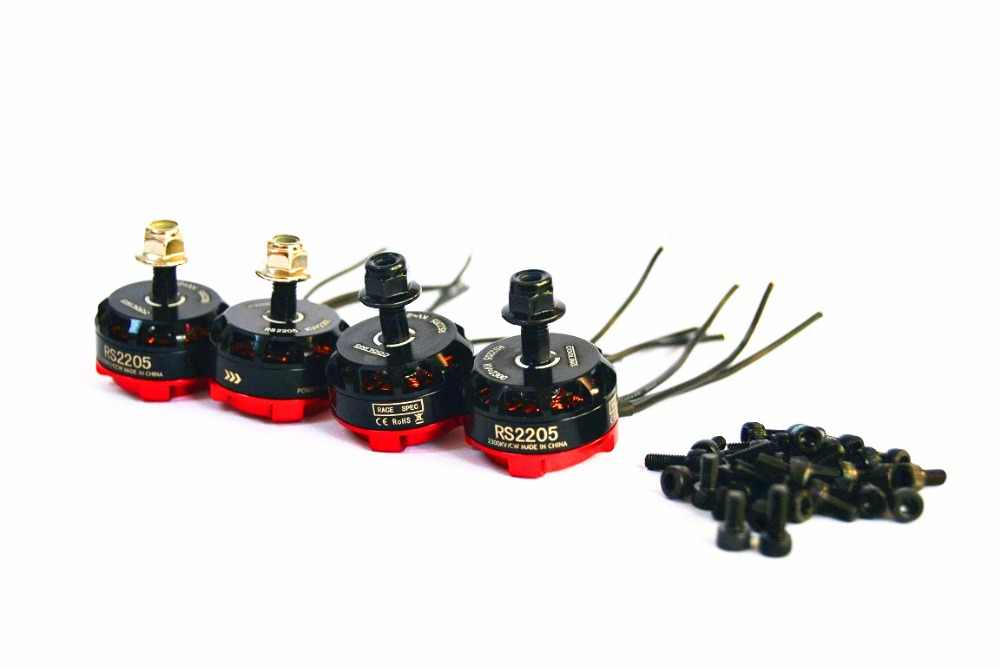 4 ชิ้น/ล็อต RS2205 2300kv Brushless Motor ฿ 2205 QAV200 210 250 FPV Quad Racing QAV R180 220 260