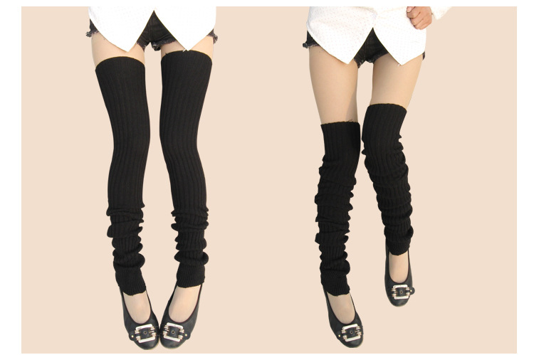 Newly Design Super Long Winter Warm Leg Warmers Over Knee High Socks Skinny Stockings Aug12