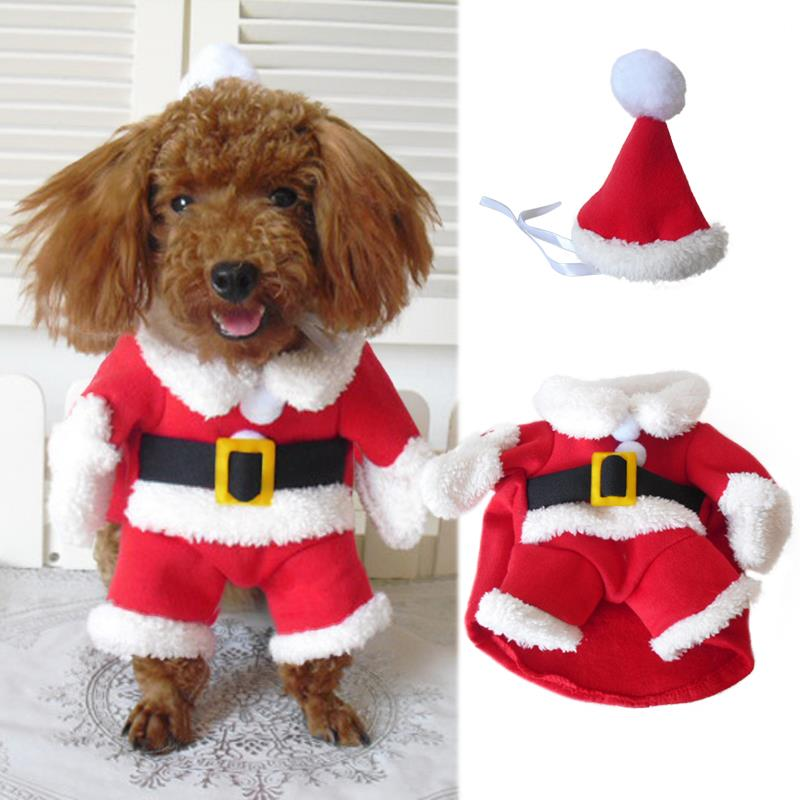 Pet Puppy Cat Dog Santa Claus Christmas Coat Costume Outfit Clothes  Apparela1-in Dog Sweaters from Home & Garden on Aliexpress.com | Alibaba  Group - Pet Puppy Cat Dog Santa Claus Christmas Coat Costume Outfit Clothes