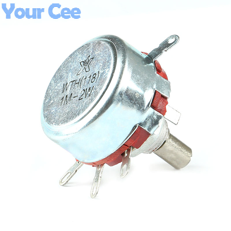 2 pcs WTH118 1A 1M 2W Potentiometer Variable Resistor Electronic Components & Supplies