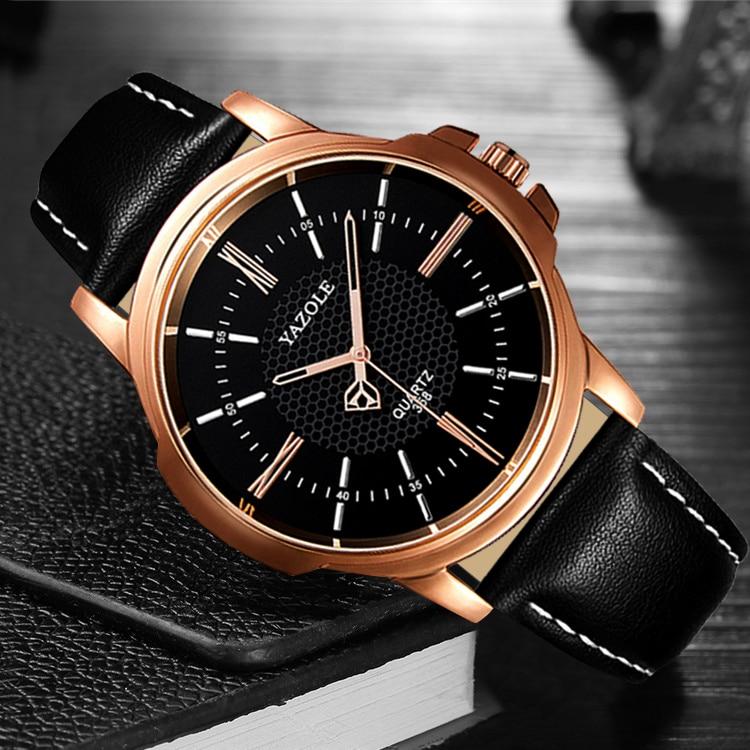 YAZOLE Business Watch Men Top Famous Brand Quartz Wristwatches New Wrist Watches For Man Clock Male Hours Hodinky Men Reloges