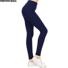 TOIVOTUKSIA Navy Blue Solid Activewear Brand Leggings Women High Quality New Mix Wholesale