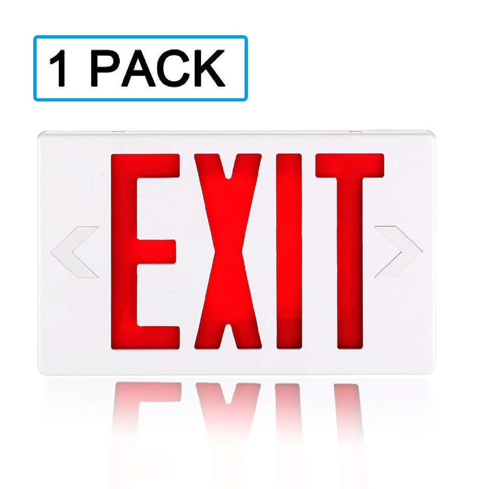 Lighting Safe Emergency Lamp Illuminated With Battery Backup Hardwired Multifunctional Electric Light Indicator Letter Exit Sign Durable Modeling Emergency Lights