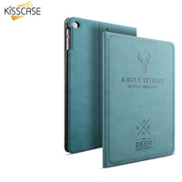 KISSCASE Case for iPad Air 2 1 Flip Leather Smart Case Automatic Sleep Awake Answer Cover Carving Deer Shockproof For ipad 5 6