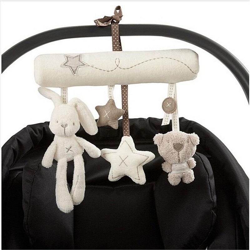 Baby Rammelaars Baby Speelgoed Knuffels Opknoping Bed Wandelwagen Crib Soft Leuke Muzikale Konijn Kinderwagen Rammelaar Educatief Speelgoed Voor Kinderwagen Pasgeboren Bed baby speelgoed 13-24 maanden