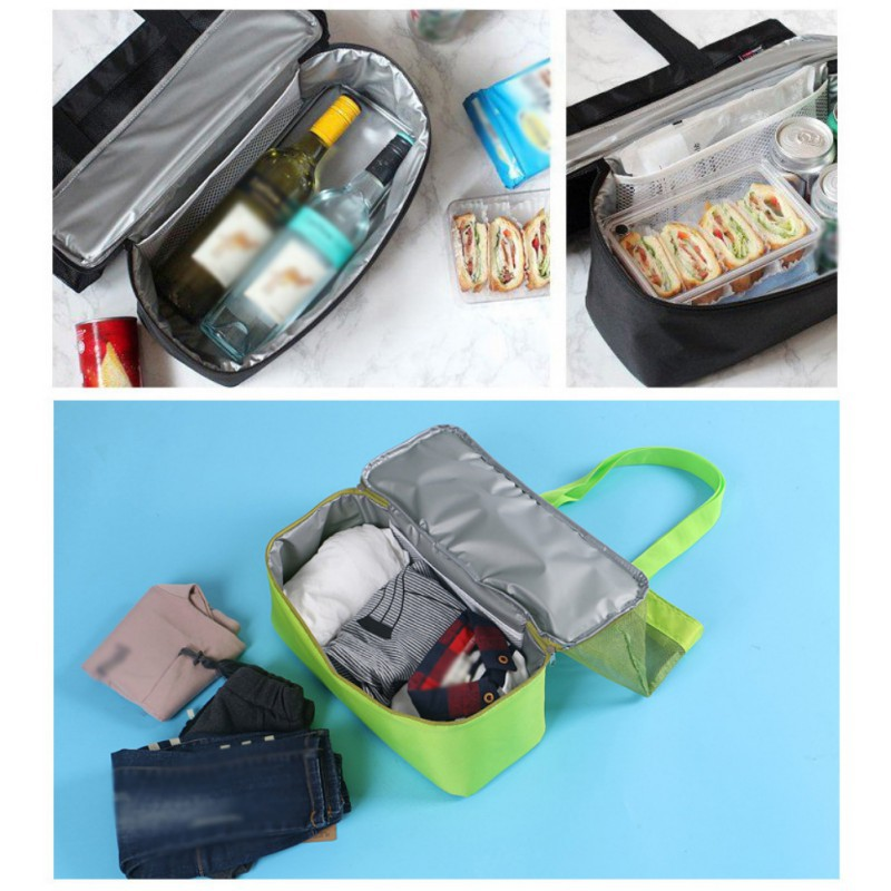 Creative Shoulder Storage Bag Insulation Bag Insulated Cooler Picnic Bag Mesh Beach Tote Bag Food Drink Storage Supplies SZ in Storage Bags from Home Garden
