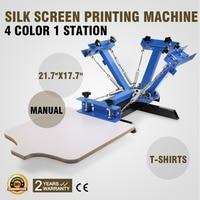 4 Color 1 Station Screen Printing Press machine Silkscreen T Shirt machine machine machine adjustermachine printing -